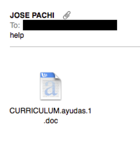 Jose Pachi bad spam email example
